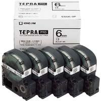 テプラ PROテープ エコ 白色6mm 黒文字×5