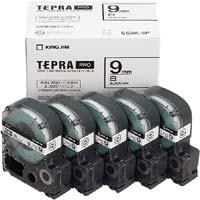 テプラ PROテープ エコ 白色9mm 黒文字×5