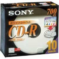 CD-Rデータ用 48倍速 IJ対応 10枚P