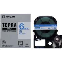 テプラ PROテープ 白ラベル 6mm 青文字