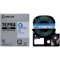 テプラ PROテープ 白ラベル 9mm 青文字