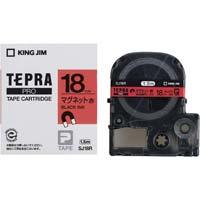 テプラ PROテープ マグネット赤色18mm黒文字 SJ18R