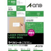 紙ラベル レーザー用 6面 四辺余白角丸 100枚