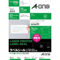 紙ラベル レーザー用 A4 12面四辺余白100枚