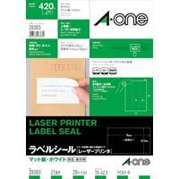 紙ラベル レーザー用 A4 21面 20枚