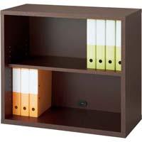 リピアノ木製収納 上下兼用2段ダークブラウン(組立てサービス付き家具)