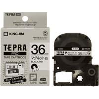 テプラ PROテープ マグネット白36mm黒字×5 SJ36S×5