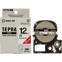 テプラ PROテープ ロング白色黒字12mm