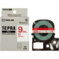 テプラ PROテープ 白ラベル 9mm 赤文字