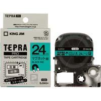 テプラ PROテープ マグネット緑色24mm黒文字 SJ24G