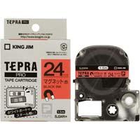 テプラ PROテープ マグネット赤色24mm黒文字 SJ24R