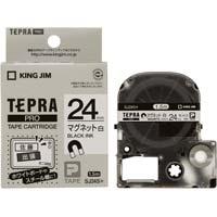 テプラ PROテープ マグネット白色24mm黒文字 SJ24S