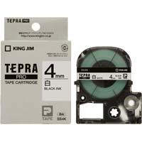 テプラ PROテープ 白ラベル 4mm 黒文字