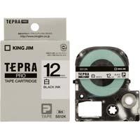 テプラ PROテープ 白色 12mm 黒文字×5個