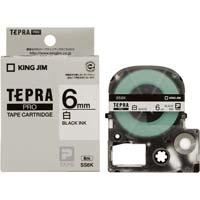 テプラ PROテープ 白色 6mm 黒文字×5個