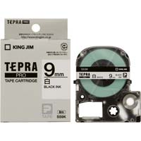テプラ PROテープ 白色 9mm 黒文字×5個