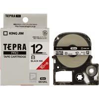 テプラ PROテープ ロング白色 12mm黒字×5