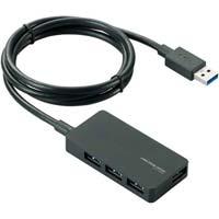 USB3.0ハブ セルフ&バスパワー 4ポート 黒