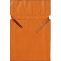 梨地ポリ巾着袋(底マチ付) オレンジ L 20枚