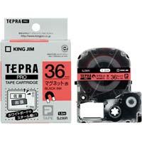 テプラ PROテープ マグネット赤色36mm黒文字 SJ36R