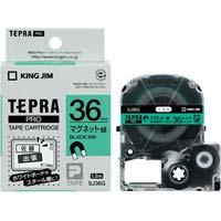 テプラ PROテープ マグネット緑色36mm黒文字 SJ36G