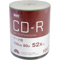 CD-Rデータ用 52倍速 IJ対応 100枚入