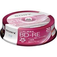 BD-RE録画用 25GB 2倍速 20枚SP
