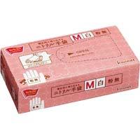 衛生的に取り出せるニトリル手袋M白100枚入