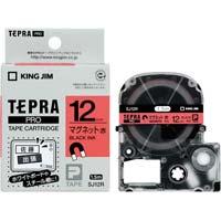 テプラ PROテープ マグネット 赤色 12mm 黒文字 SJ12R