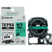 テプラ PROテープ マグネット 緑色 12mm 黒文字 SJ12G