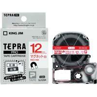 テプラ PROテープ マグネット 白色 12mm 赤文字 SJ12SR