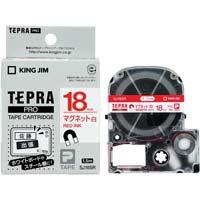 テプラ PROテープ マグネット 白色 18mm 赤文字 SJ18SR