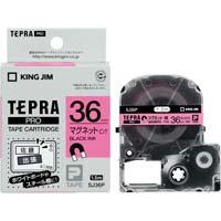 テプラ PROテープ マグネット 桃色 36mm 黒文字 SJ36P