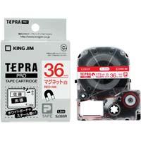 テプラ PROテープ マグネット 白色 36mm 赤文字 SJ36SR