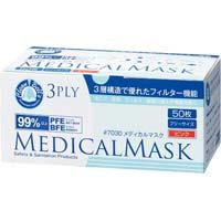 メディカルマスク 3PLY ピンク 50枚×20箱 業務用