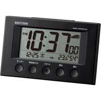 リズム多機能電波時計フィットウエーブスマート 黒