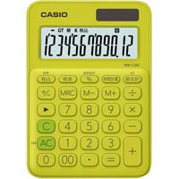 カラフル電卓MW-C20C-YG イエローグリーン