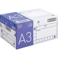 コピー用紙 タイプ2 スーパー高白色 A3 国産 1冊(500枚)×5冊 1箱(フラップ式)