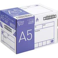 コピー用紙 タイプ2 スーパー高白色 A5 国産 1冊(500枚)×10冊 1箱(フラップ式)