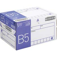 コピー用紙 タイプ2 スーパー高白色 B5 国産 1冊(500枚)×10冊 1箱(フラップ式)