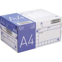 コピー用紙 タイプ2 スーパー高白色 A4 国産 1冊(500枚)×10冊 1箱(フラップ式)