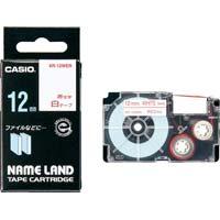 ネームランド 白色テープ 12mm 赤文字