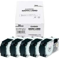 ネームランド 白色テープ 24mm 黒文字 5個入