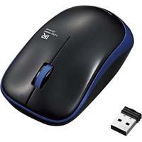 IRマウス 静音 無線 3ボタン 省電力 ブルー