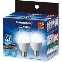 LED一般形電球広配光 E17 40W 昼光色×2