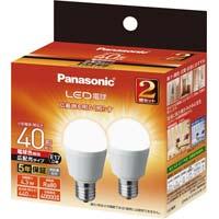 LED一般形電球広配光 E17 40W 電球色×2