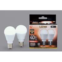 LED E17 広配光40形 電球色 2個入