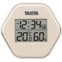 デジタル温湿度計 アイボリー