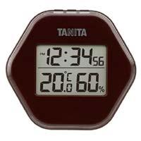 デジタル温湿度計 ブラウン