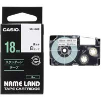 ネームランド 白色テープ 18mm 黒文字